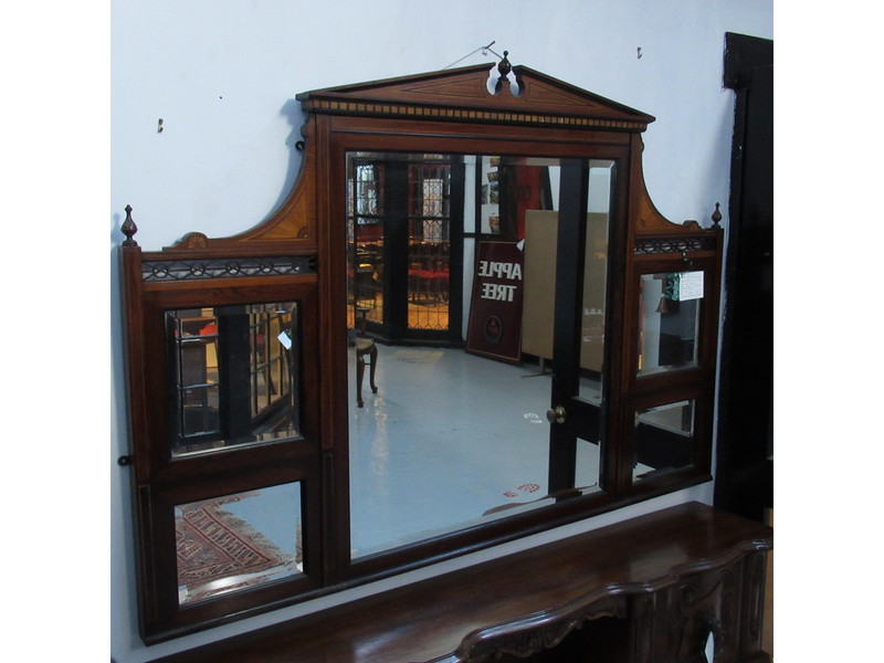 Victorian rosewood mirror