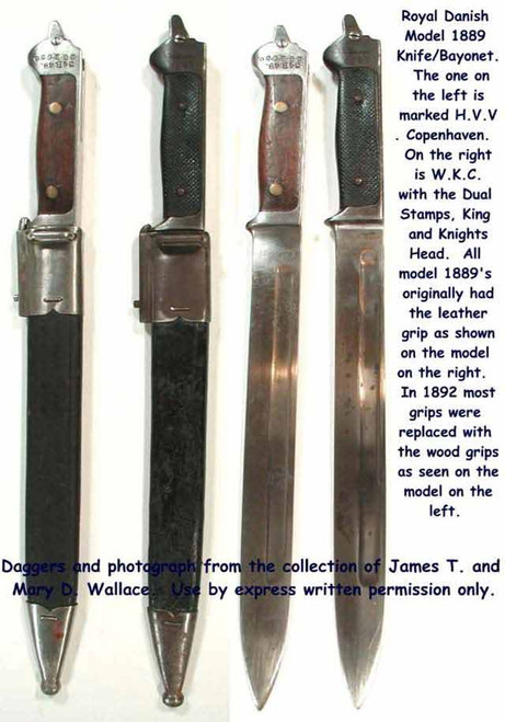1889 Model Danish Fighting Knife Bayonet#106