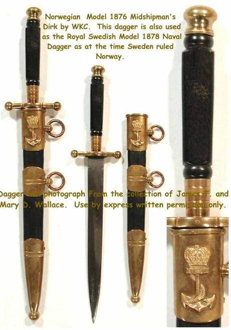 1876 Norwegion Naval Dagger#53
