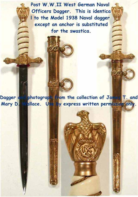Post WW2 West German Naval Dagger  #200