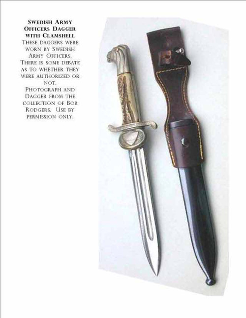 Swedish Army Officers Clamshell Dagger#235