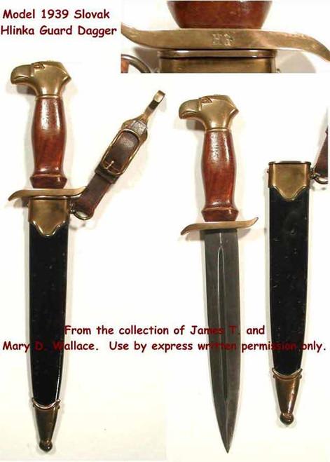 1939 Model Slovak Hlinka Guard Dagger#187