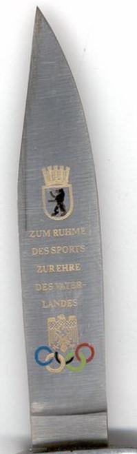 1936 OLYMPIC COMMEMORATIVE DJ KNIFE#337