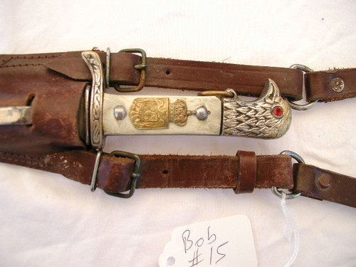 Royal Romanian Army NCO dagger with replaced grips#745