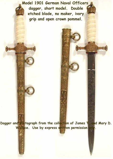 1901 German Naval Officers Dagger#238