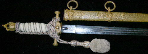 Imperial German Damascus Navy Dagger  #338