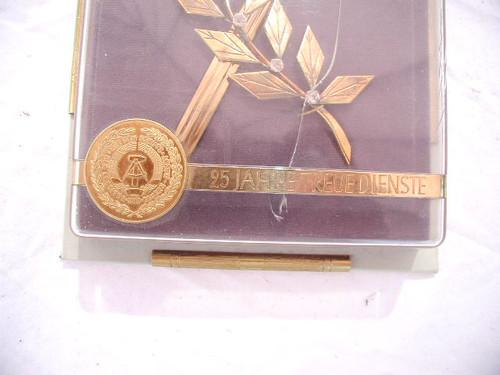 Miniature East German presentation dagger in original case. #567