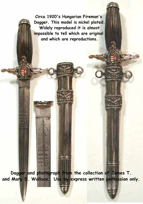 Royal Hungarian Fire Brigade Dagger1920 ca #194