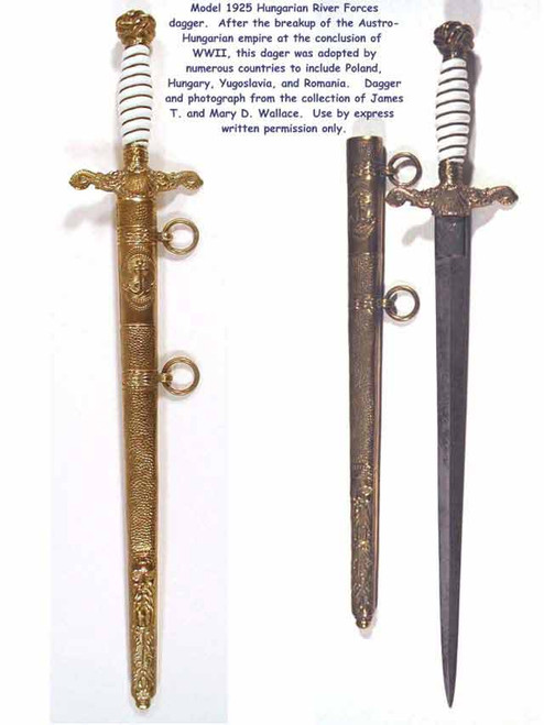 1925 Model Royal Hungarian River Forces Dagger  #193