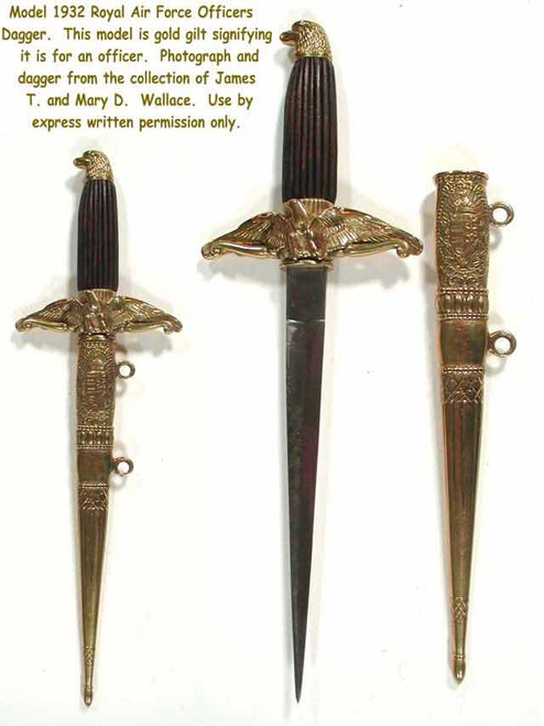 1932 Model Royal Hungarian Air Force Gold Dagger  #189