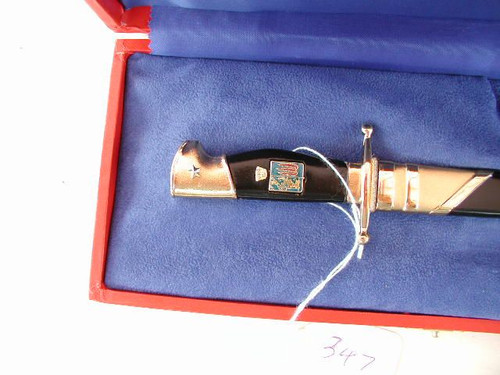Cased Italian Miniature of the NCO Academy dagger#561