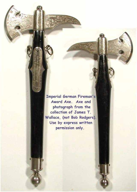 Imperial German Dress Fire Axe  #252