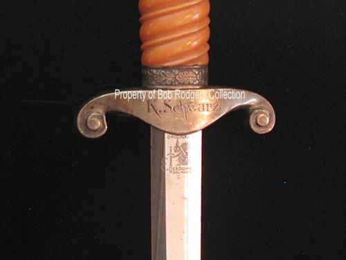 Named K. Schwarz Army Dagger - Eickhorn#278