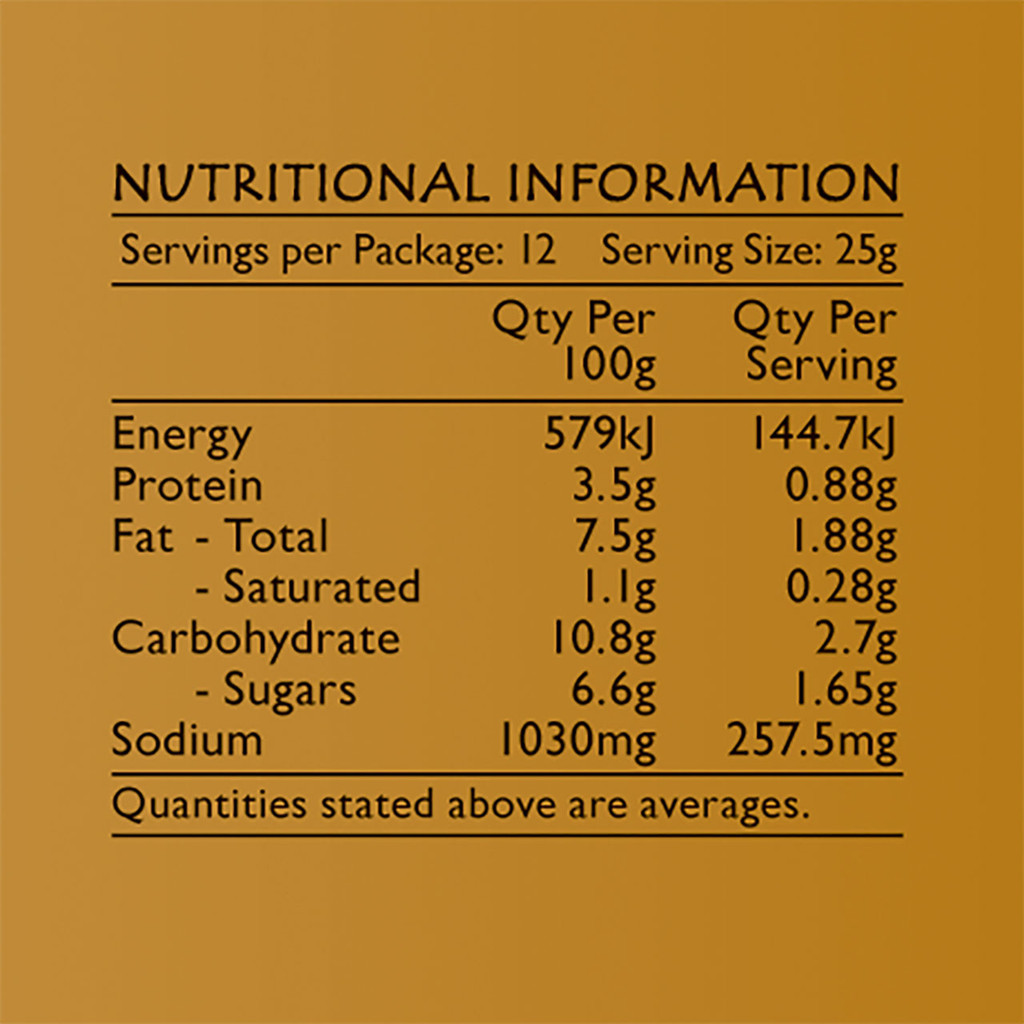 Life's Good Curry Pastes - Nutritional Information - Chiang Mai Paste