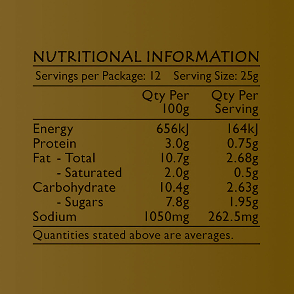 Life's Good Curry Pastes - Nutritional Information - Massaman Curry Paste