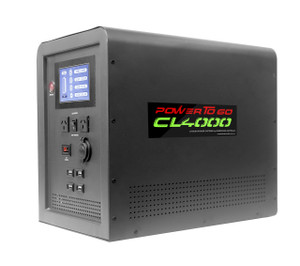 New! CamperLED CL4000 equipped with 1500 watt Pure Sine wave inverter and 160 watt Folding solar panel kit