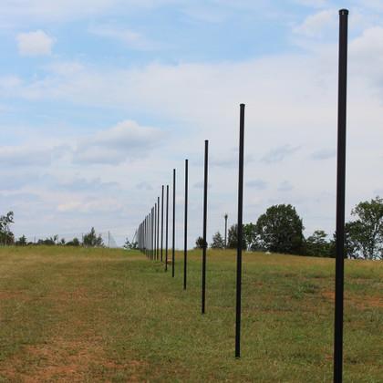 8' Steel Deer Fence Post