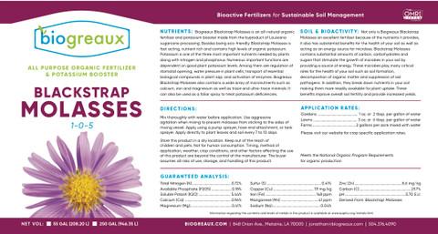 Biogreaux Blackstrap Molasses 1 Gallon