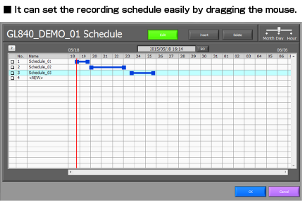 Graphtec APS software schedule.