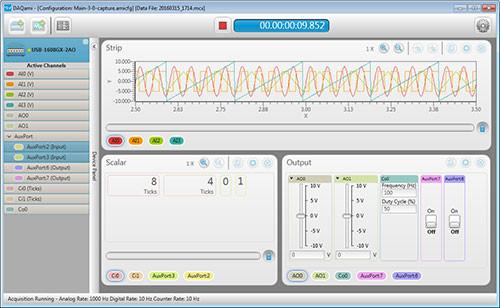 Measurement Computing DAQami sofware.