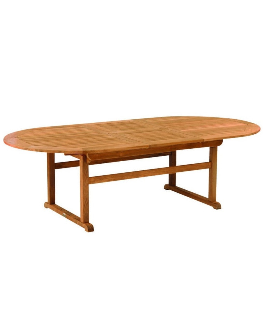 Kingsley Bate Essex Oval Extension Dining Table TR - Teak oval extension dining table