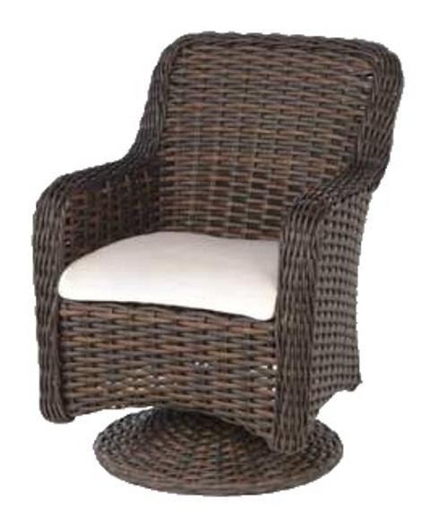 Ebel Dreux Collection Dining Swivel Rocker In Chesnut Brown