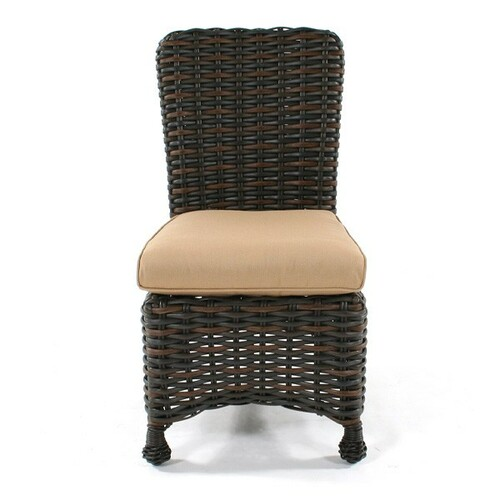... Ebel Dreux Wicker Dining Side Chair | Cushion Optional ...