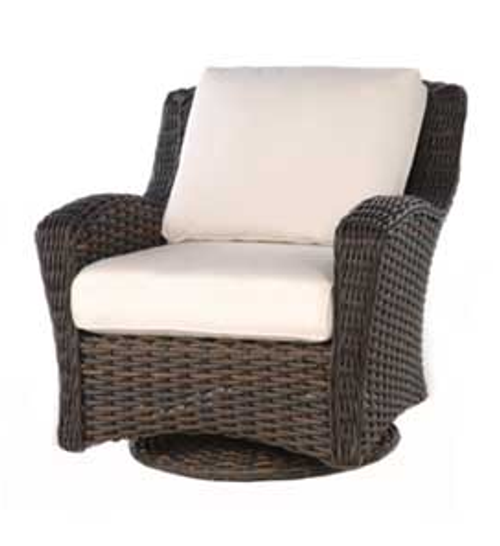 Ebel Dreux Wicker Deep Seating Club Swivel Glider Chair