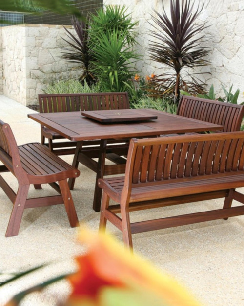 Jensen Leisure Amber | Beechworth 5 Pc Ipe Wood Dining Group