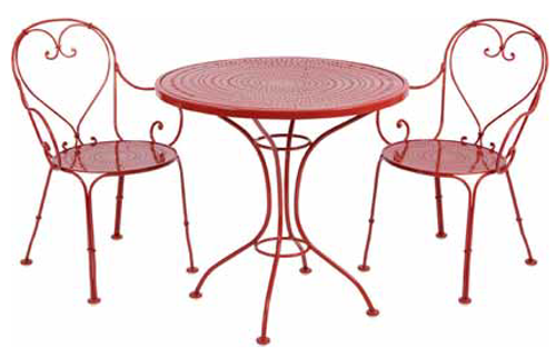 sc 1 st  Rocky Mountain Patio Furniture & Woodard Parisienne 3 Pc Wrought Iron Bistro | Ice Cream Set