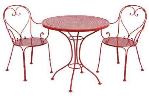 sc 1 st  Rocky Mountain Patio Furniture & Woodard Parisienne 3 Pc Wrought Iron Bistro | Ice Cream Set