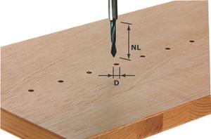 Dowel Drill bit HW 5x30mm