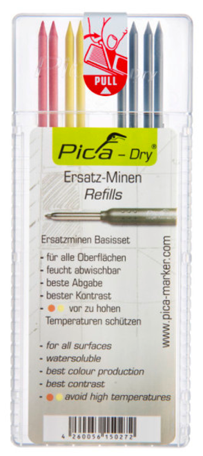 Pica-Dry Longlife Lead Replacement (4 Regular, 2 Red, 2 Yellow)