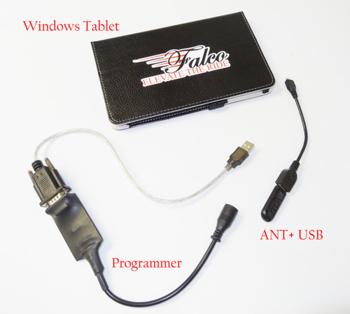 eTablet with Pre-Installed Falco Software i.e., eBike Lab, Flash Loader etc.
