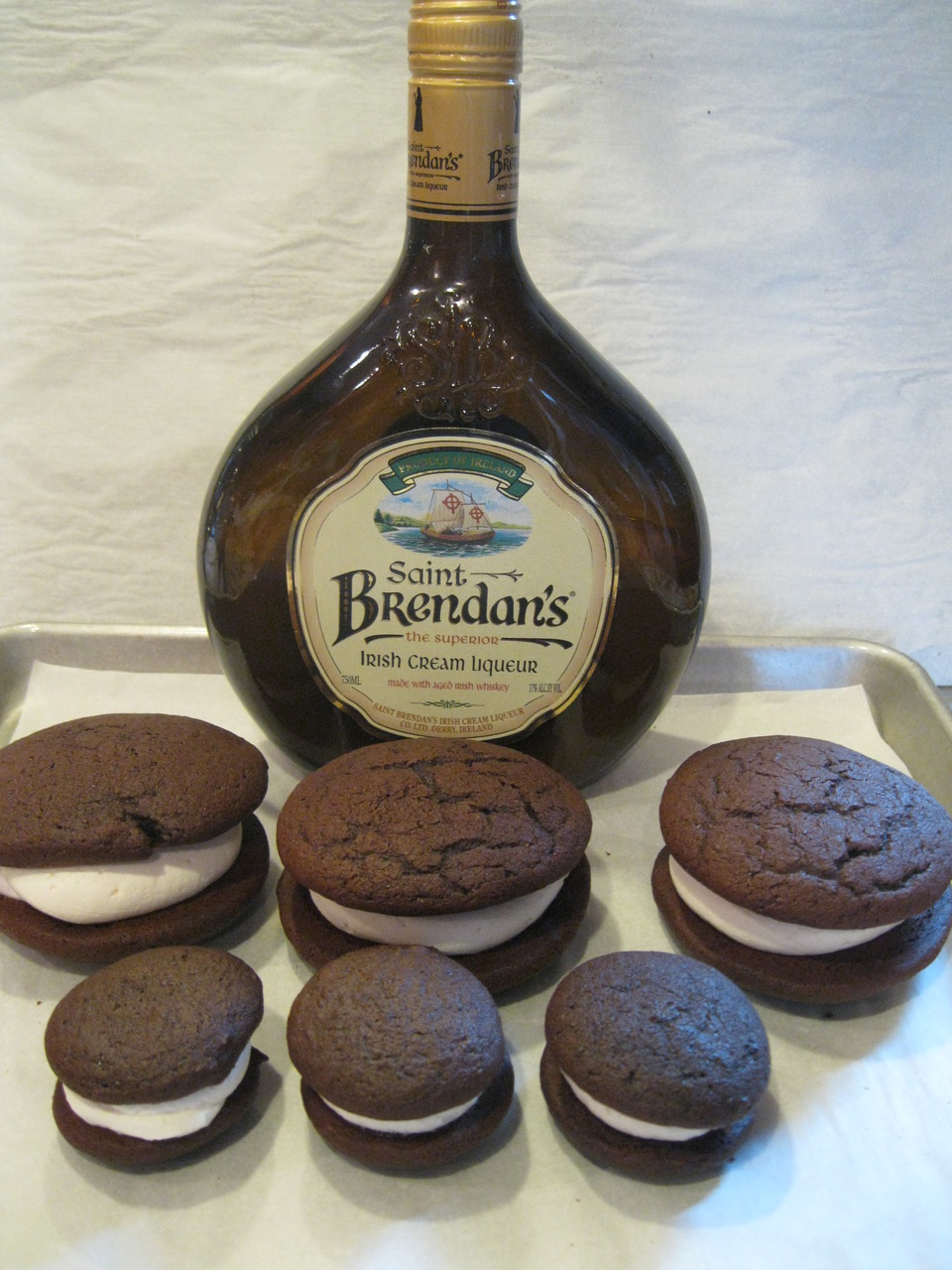 6 Pack- Large Irish Cream Whoopie Pies