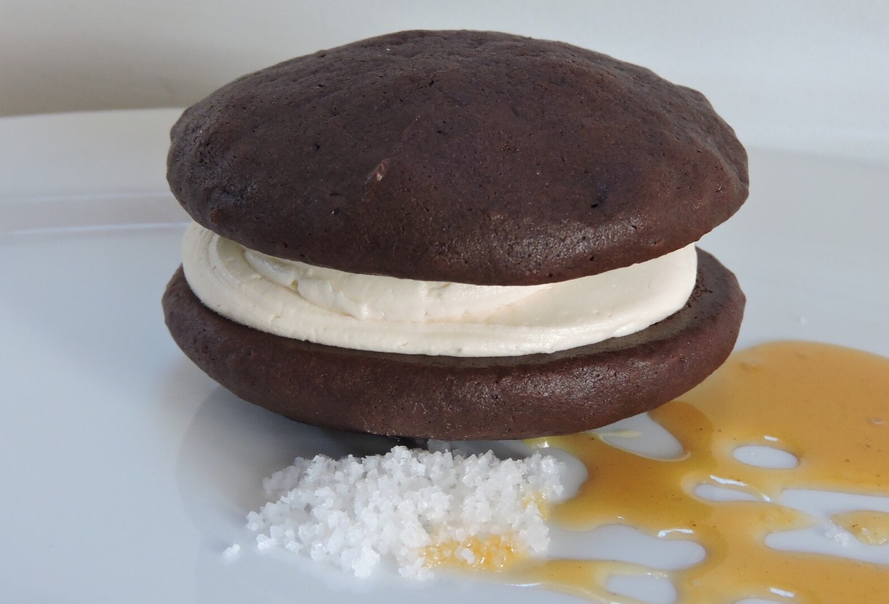 12 Pack- Medium Salted Caramel Whoopie Pies (Birthday Party Size)