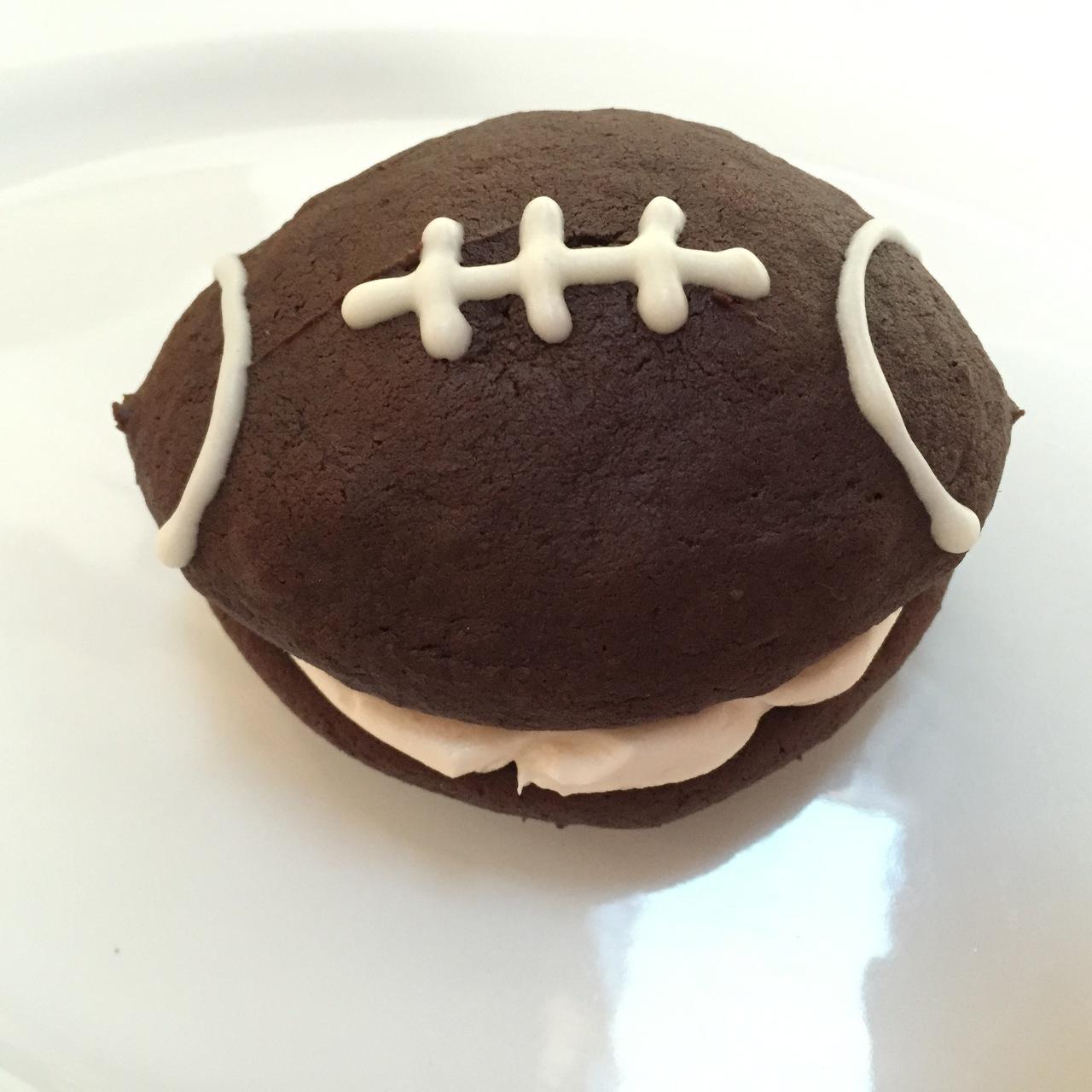 6 Pack- Large Football Whoopie Pies