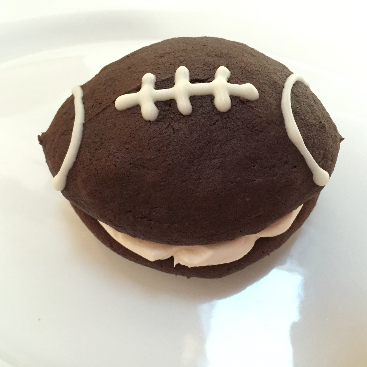 4 Pack- Large Football Whoopie Pies