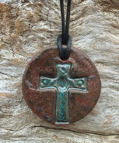 Terracotta Diffuser Necklace - Cross
