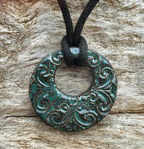 Terracotta Diffuser Necklace - Swirls