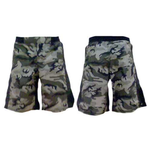 Green Camouflage MMA Fight Shorts