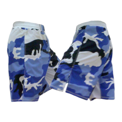 Blue Camouflage MMA Fight Shorts