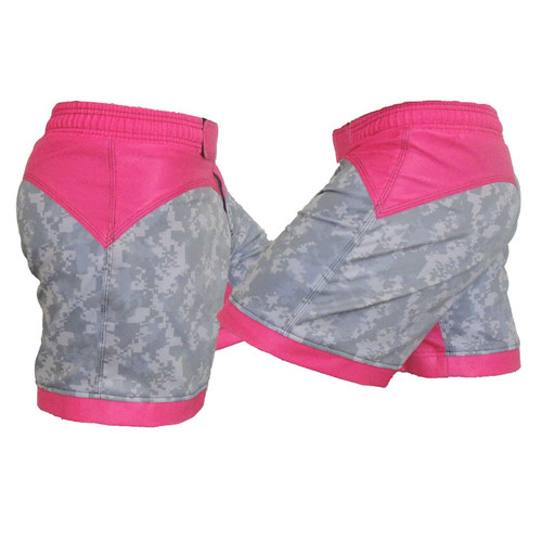ACU and Pink Women's Fight Shorts