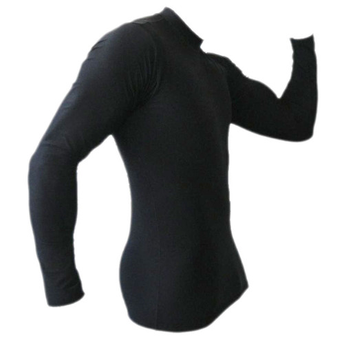 Black Long Sleeve Rash Guard MMA Shirt