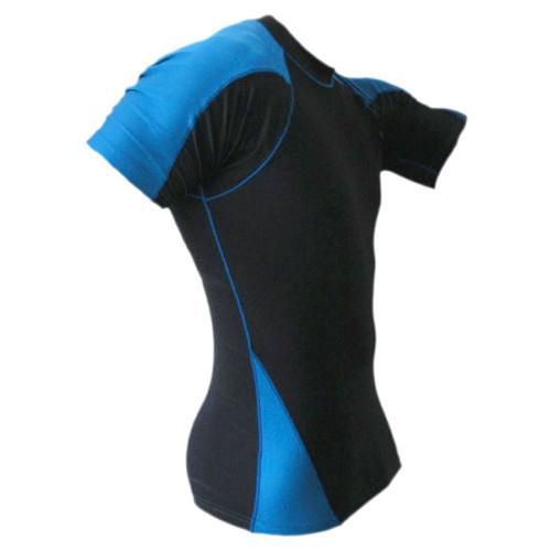 Black & Blue Rash Guard MMA Shirt