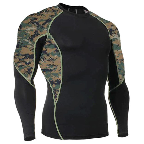 Long Sleeve Side Panel MARPAT Rash Guard MMA Shirt