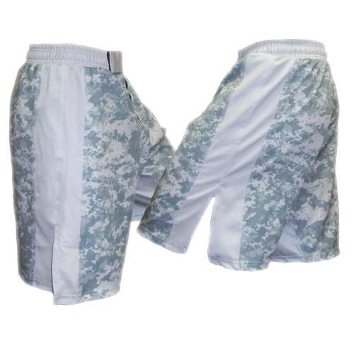 MACP ACU Fight Shorts Grey with White Stripe