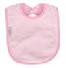Pale Pink Fleece Large Bib