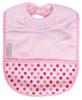 Pale Pink Dots Towel Pocket Bib