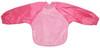 Pale Pink/Cerise Towel Long Sleeve Bib